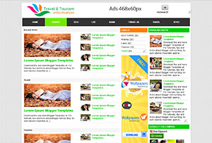 Travel and Tourism Blogger Templates Free