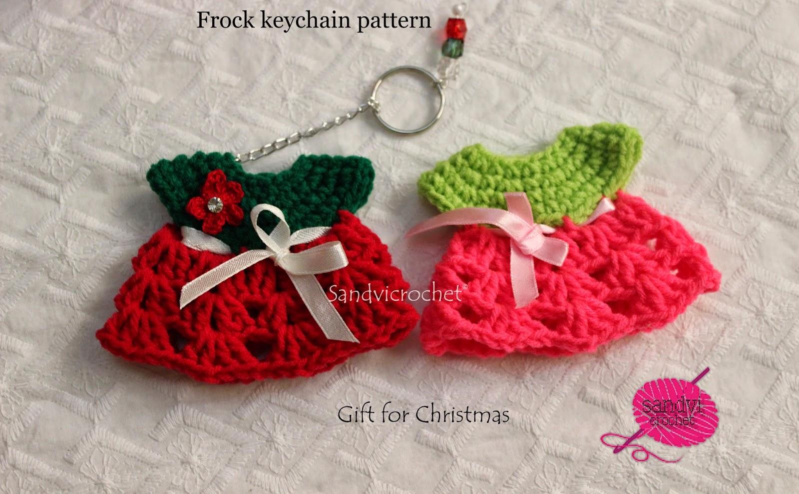 Sandvicrochet Free Pattern Crochet Frock Keychain