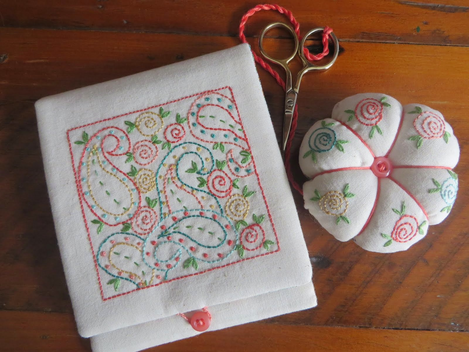 Embroidered Needle Case