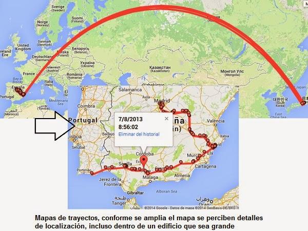 Google Maps y el seguimiento de los movimientos
