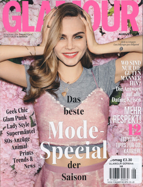 Actress, Singer, Model @ Cara Delevingne - Glamour Germany, August 2015