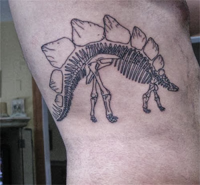 Stegosaurus Skeleton Tattoo
