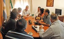 LA COMISIÓN NACIONAL DE EX COMBATIENTES EN CHACO CON EL MIN. DE GOBIERNO J.M. PEDRINI.