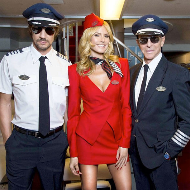 bombastic airlines - Top-Stewardess Heidi Klum