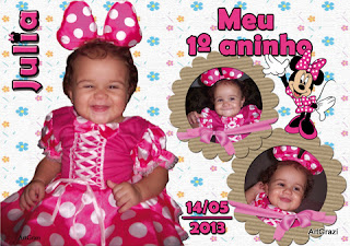 Mini Banner de mesa 15x20 Minnie Rosa