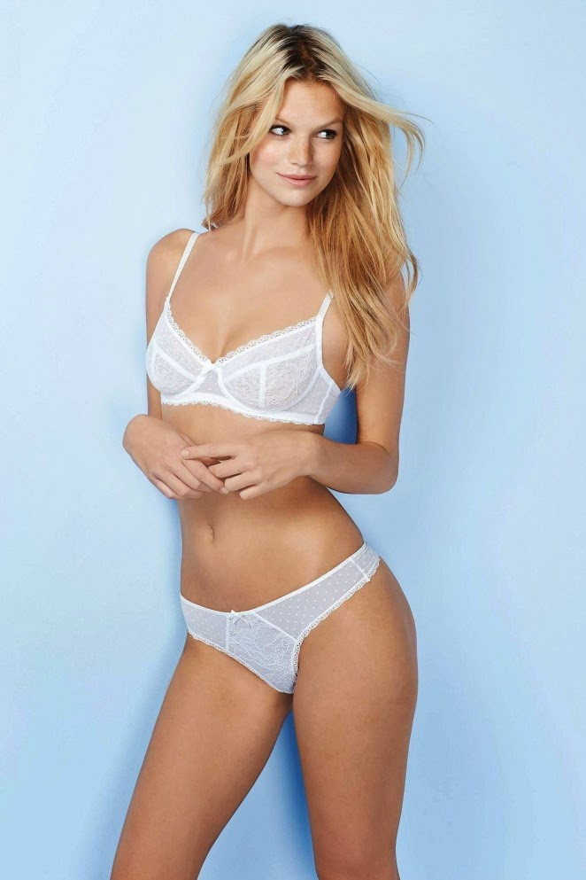Nadine Leopold wears stylish lingerie for the Victoria's Secret Lingerie Lookbook 2015