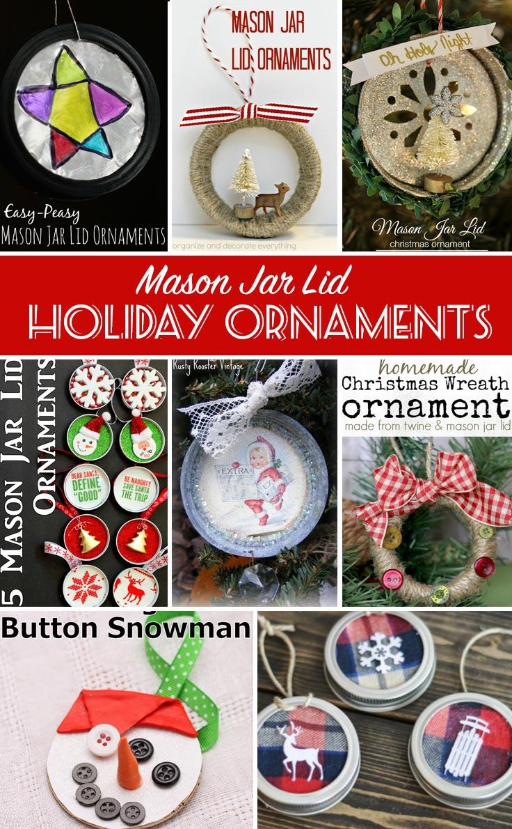 crafts with jars mason jar lid ornament. Black Bedroom Furniture Sets. Home Design Ideas