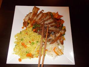 """Duck fried rice"" Asian lunch at ""Pho Viet"" Vietnamese restaurant,"