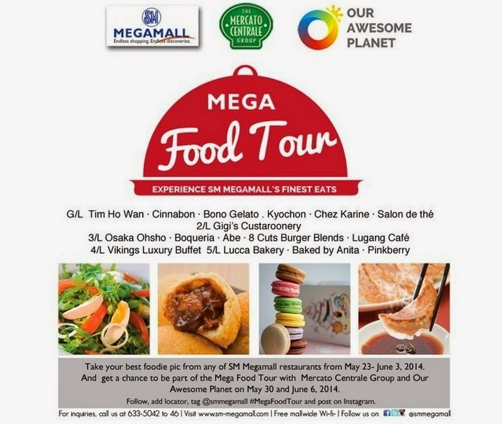 Sm megamall mega food tour with anton diaz of our awesome planet just take your best foodie shot from any restaurant in sm megamall and get a chance to be part of sms megafoodtour on may 30 and june 6 forumfinder Image collections