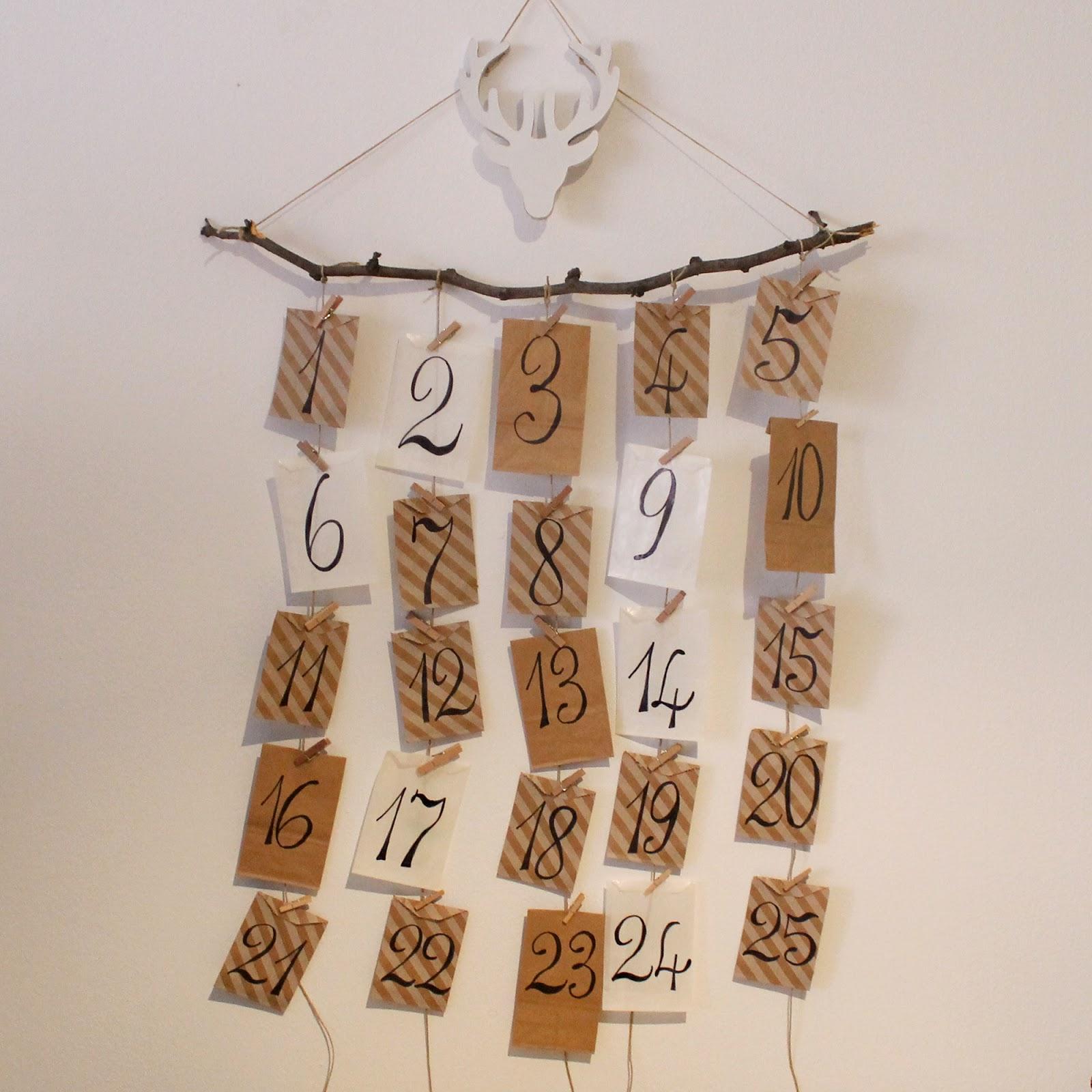 Nina designs parties mi calendario de adviento diy - Calendario de adviento diy ...