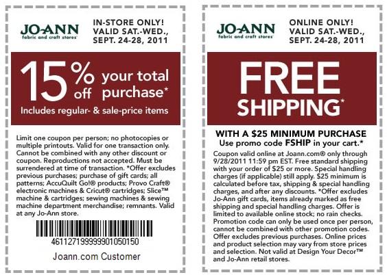 Joann fabrics shop online / Cheddars coupon