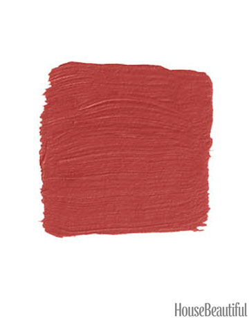Exterior paint ideas - red door