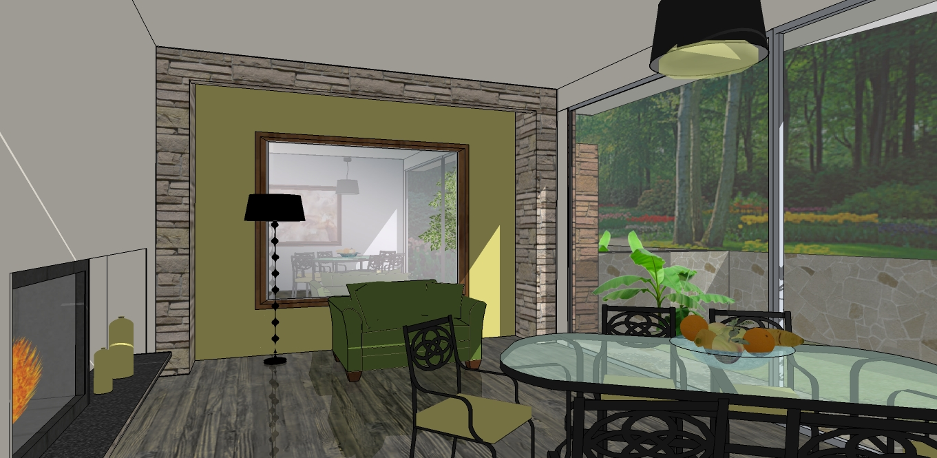 Sketchup for interior design mirrors and reflections in