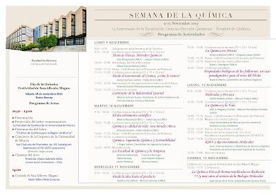 """""""Semana de la Química"""" en la Universidad de Murcia, 75 años formando profesionales."""