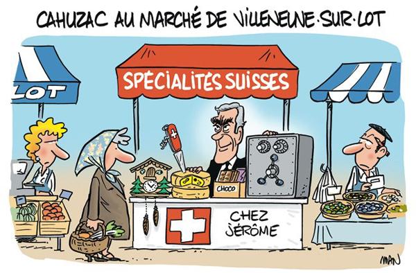 Cahuzac au marché caricature de Man