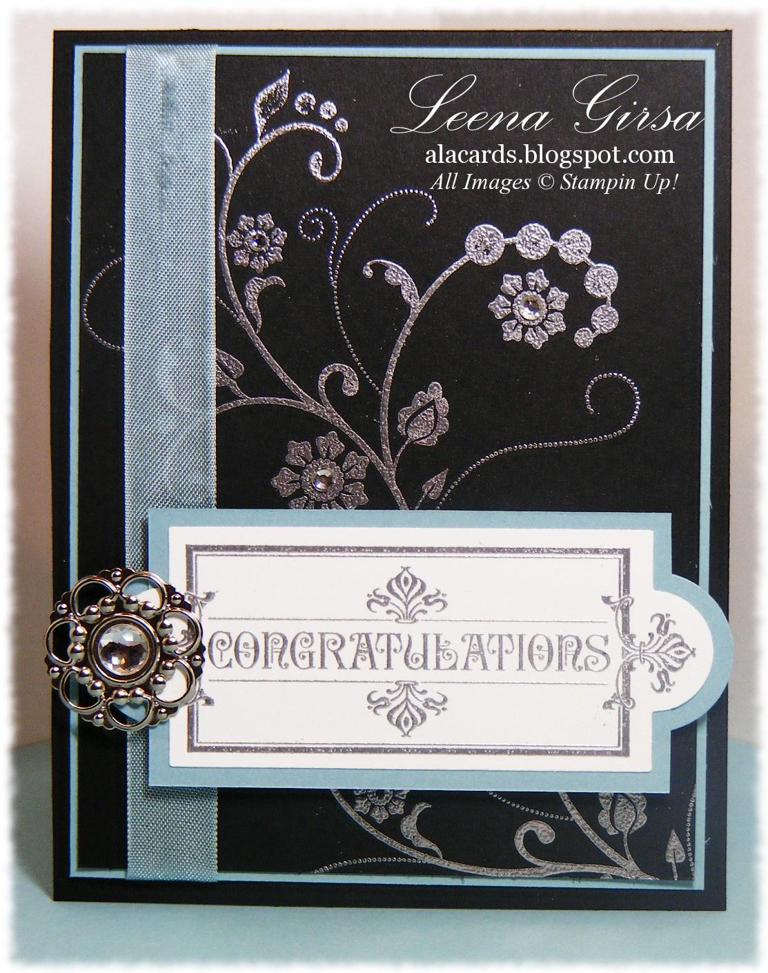 a la cards  elegant congrats