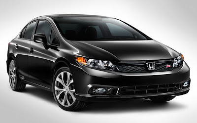 Honda Civic Si Sedan 2012 crystal black pearl