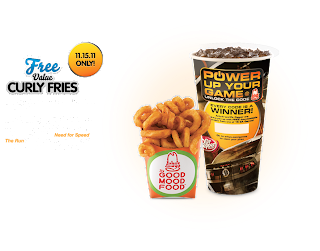 Free Curly Fries at Arby's