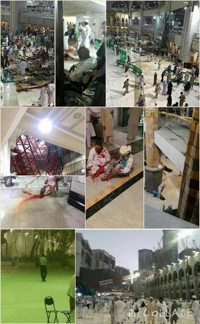 Tragedia Arabia al caer una grúa en la mezquita más grande del mundo