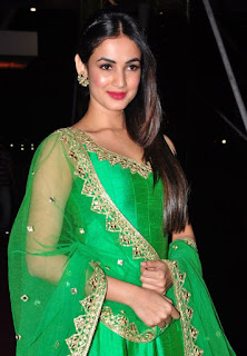 Sonal Chauhan in a Green Anarkali Dress at PVP Daighter Function WOW Gorgeous Beauty Sonal Chauhan