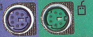 CONECTOR  PS/2 TECLADO Y MAUS