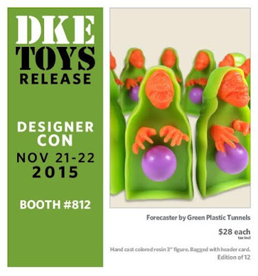 Designer Con 2015 Exclusive Forecaster Resin Figure by Green Plastic Tunnels
