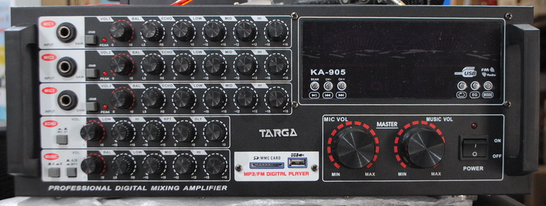 Indah Elektronik Amp Sparepart POWER MIXER AMPLI KARAOKE