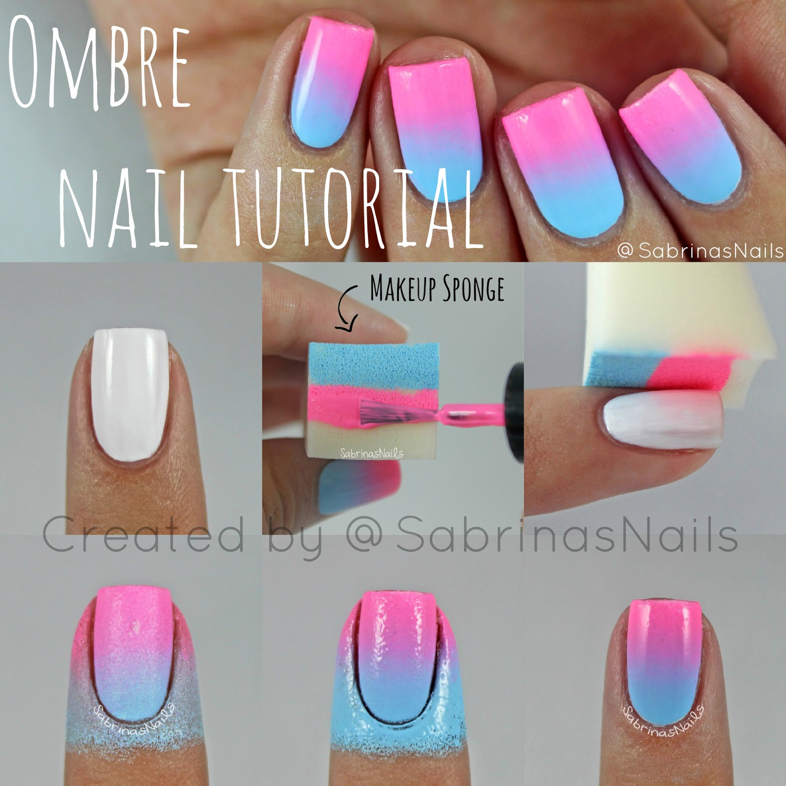 Sabrinas nails ombre nail tutorial ombre nail tutorial prinsesfo Image collections