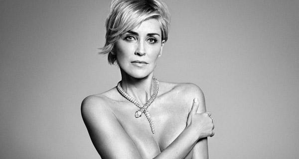 El espectacular desnudo de Sharon Stone en Harper Bazaar