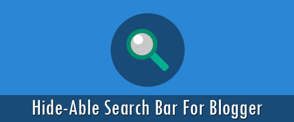 How to create a hide-able search bar for Blogger using jQuery?