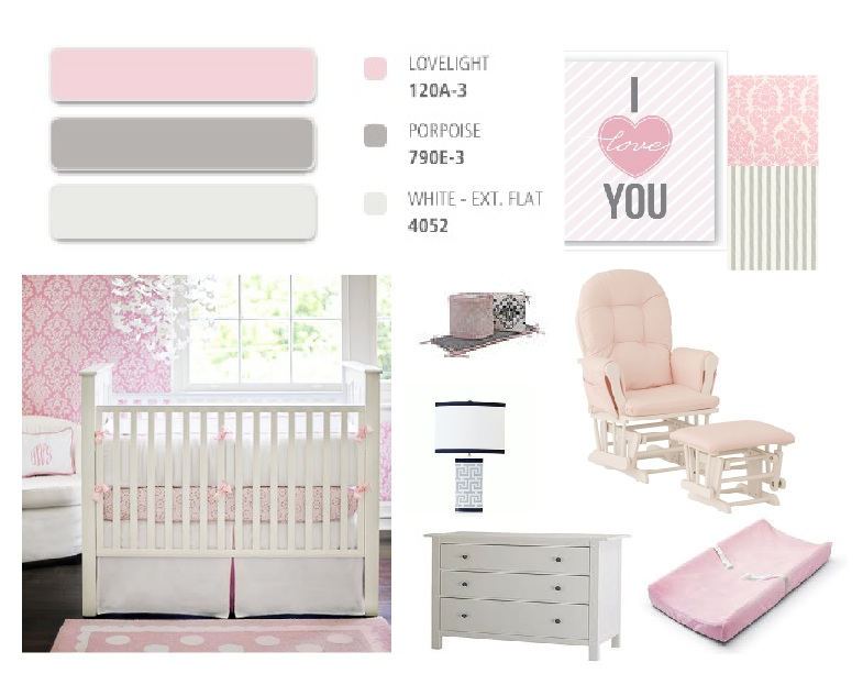 Dolldine Designs Nursery Inspiration Pink And Gray