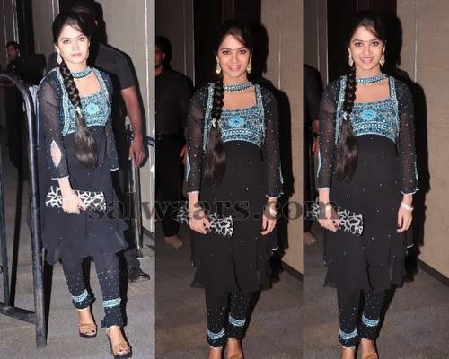 Madhumitha Black Chiffon Salwar
