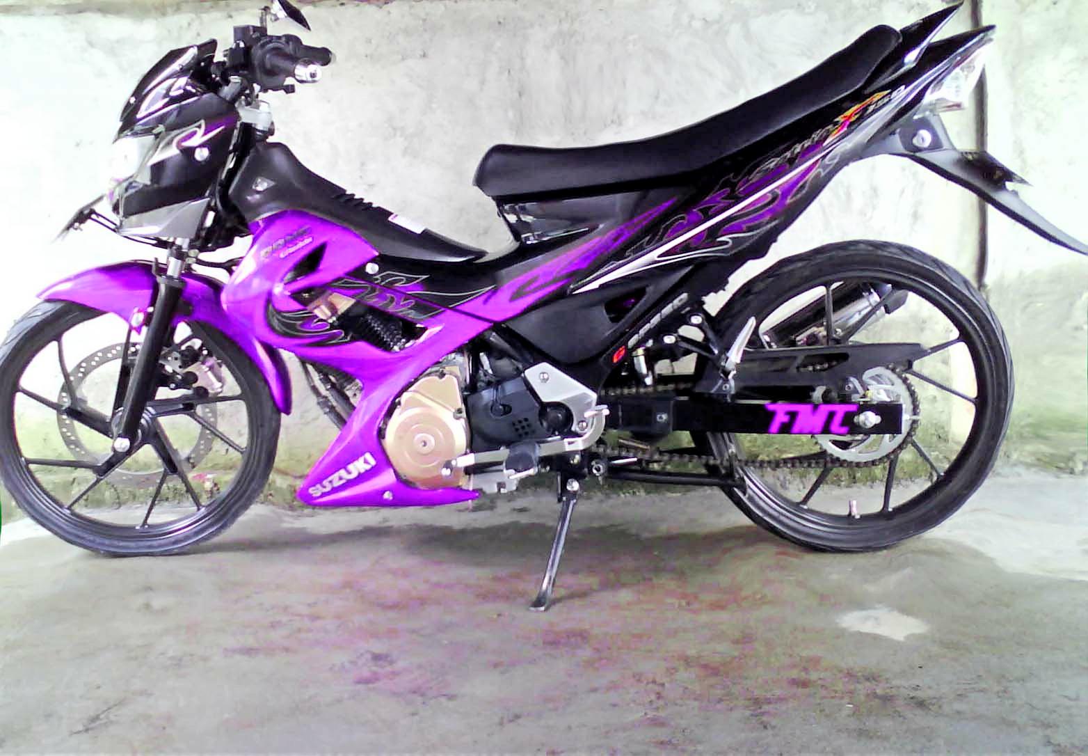Foto Modifikasi Motor Suzuki Satria FU 150 Terbaru title=