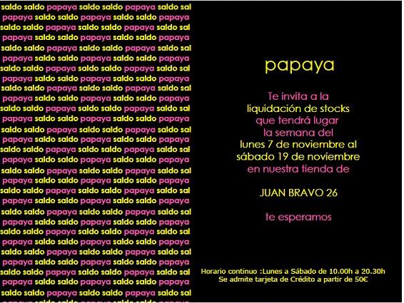 Papaya Tienda Madrid  Papaya With Papaya Tienda Madrid