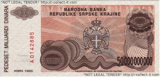 50,000,000,000 Dinara Krajina