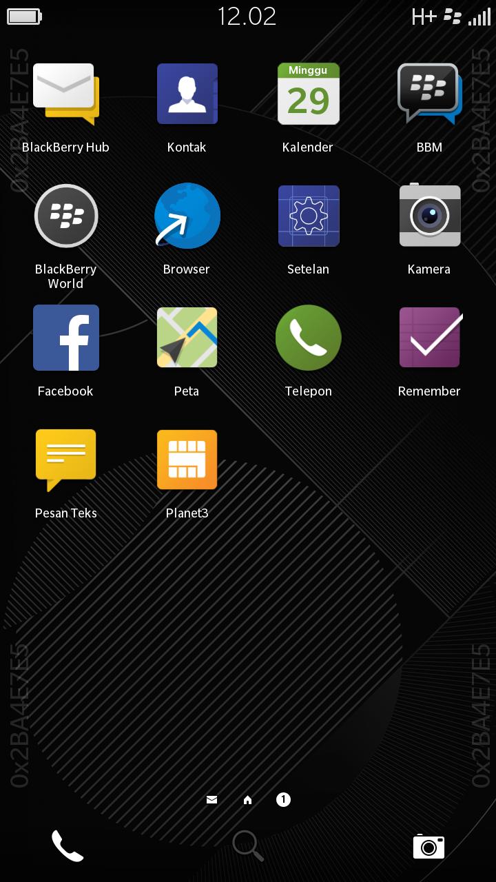 ScreenShot Setelah Upgrade OS 10.2 ke OS 10.3(Beta) ke Blackberry Z3