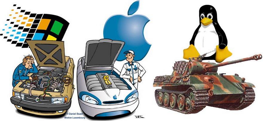 linux vs apple vs windows