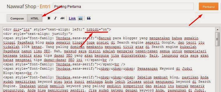 Cara Valiasi HTML