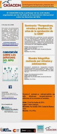 Invitacion especial de CASACIDN 25 Años de la convención