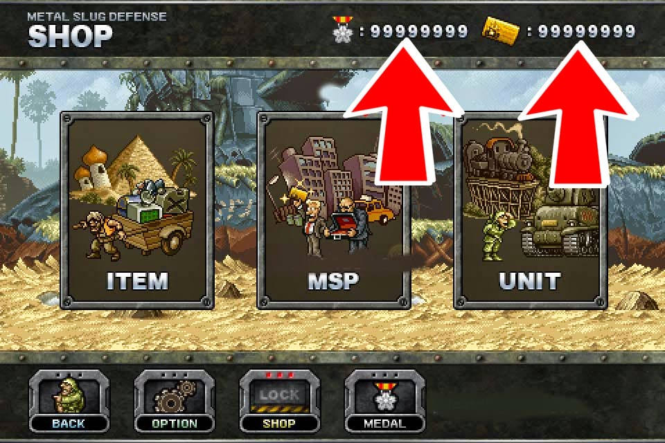 Metal Slug Defense Hacked - Proof
