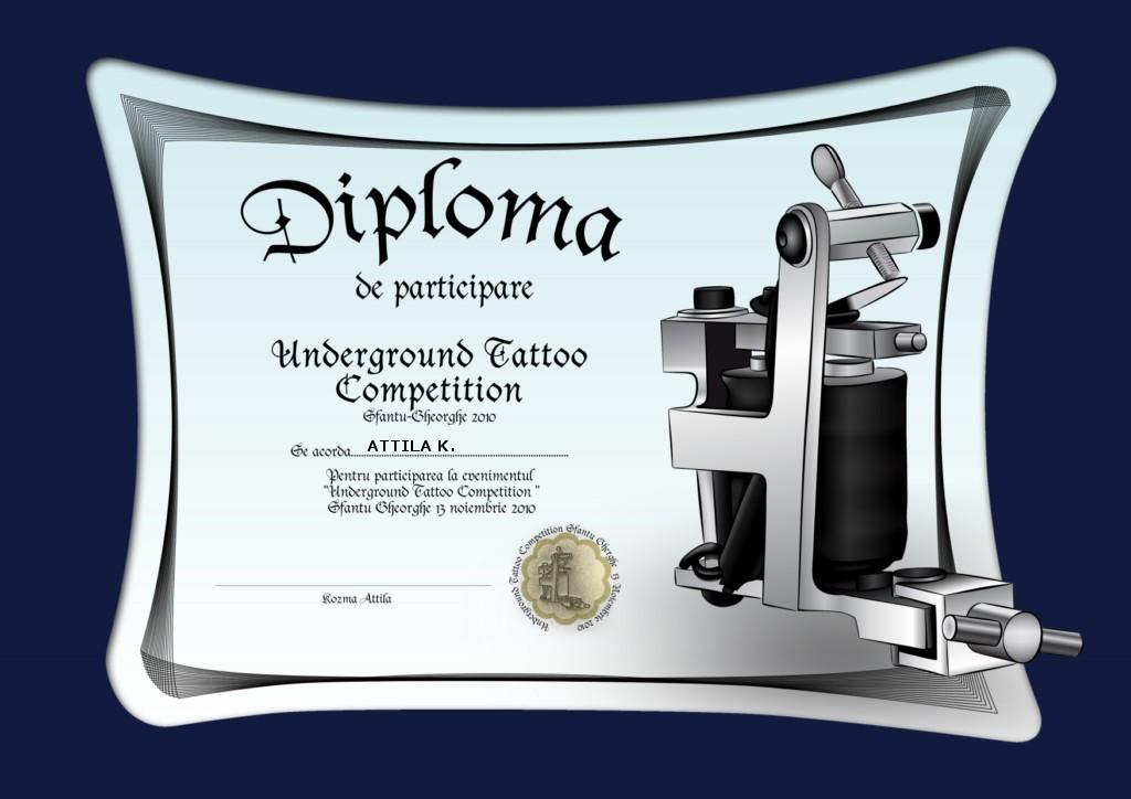 Tattoo Certificate