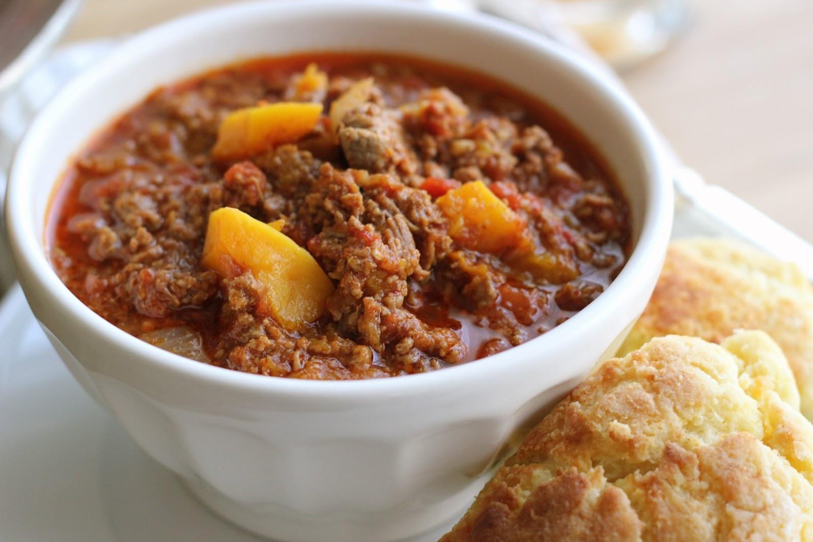 Jenny Steffens Hobick: Butternut & Beef Chili   Fall Recipe