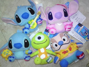 Japan Disney Stitch & Friends Plush Set