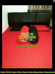 Harga Sprei Polos Merah Cabe-hitam/katun Panca/star/test Jual