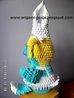 Smerfetka - origami modułowe.