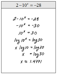 Solve Exponential Equation Using Natural Logarithm Calculator