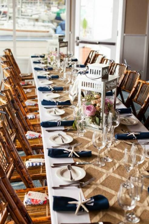 nautical wedding table settings