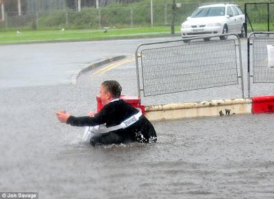 >Dorset, England under water following Monsoon-like rains
