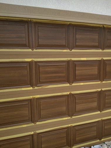 2014 06 01 everything i create paint garage doors to for Paint garage door to look like wood