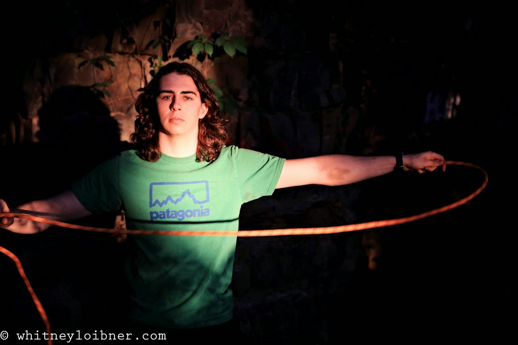 senior photos, whitney loibner photography, boy senior, rock climbing, ropes